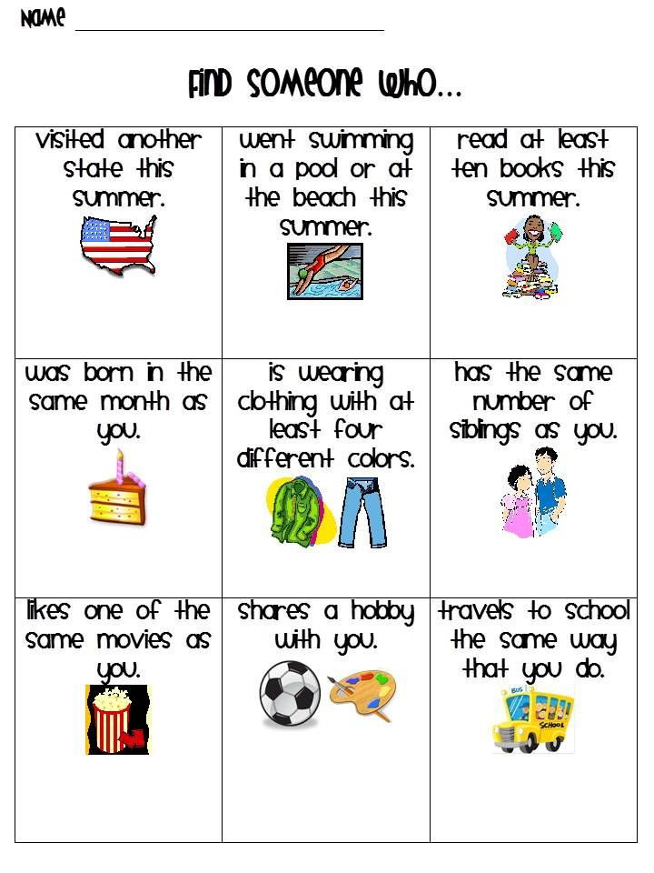 Back to School activity. Maybe make a few more boxes, great way for students to get to know one another!