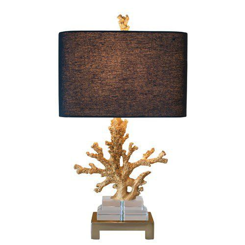 Gold Coral Table Lamp via The Beach Look. Click on the image to see more!