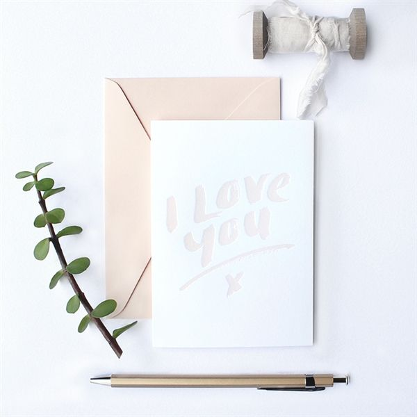 Letterpress Greeting Card - GALINA DIXON - Product Showroom 2017