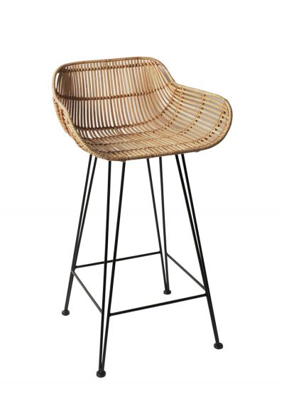 Rattan High Stool - Stools & Chairs - Kitchen