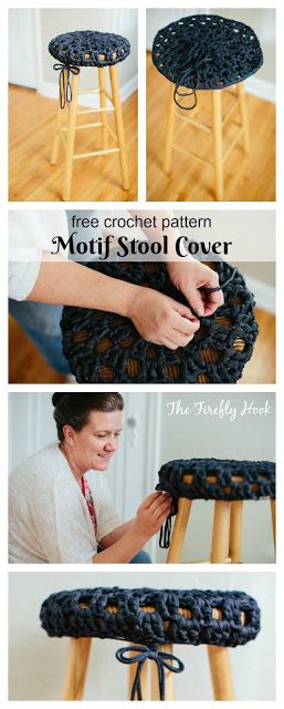 Motif Stool Cover - Free Crochet Pattern from Guest Contributor on myhobbyiscrochet.com
