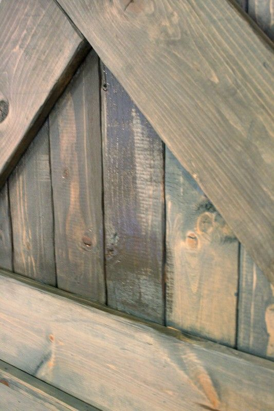 color washing paint technique, wood grain still shows, barn door (11)