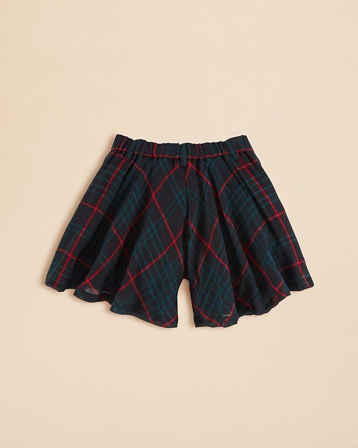 Ralph Lauren Girls' Plaid Culotte Pants – Sizes 2-6X