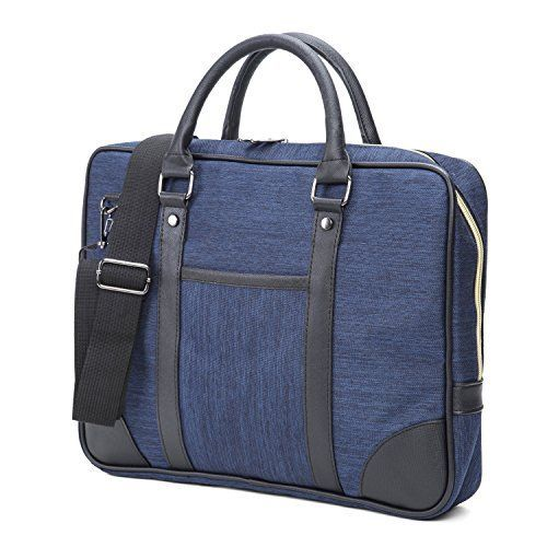 Waterproof Oxford Fabric Business Portable Laptop Briefcase Office Shoulder Bag Messenger Bag Handbag for ManBlue * More info could be found at the image url.