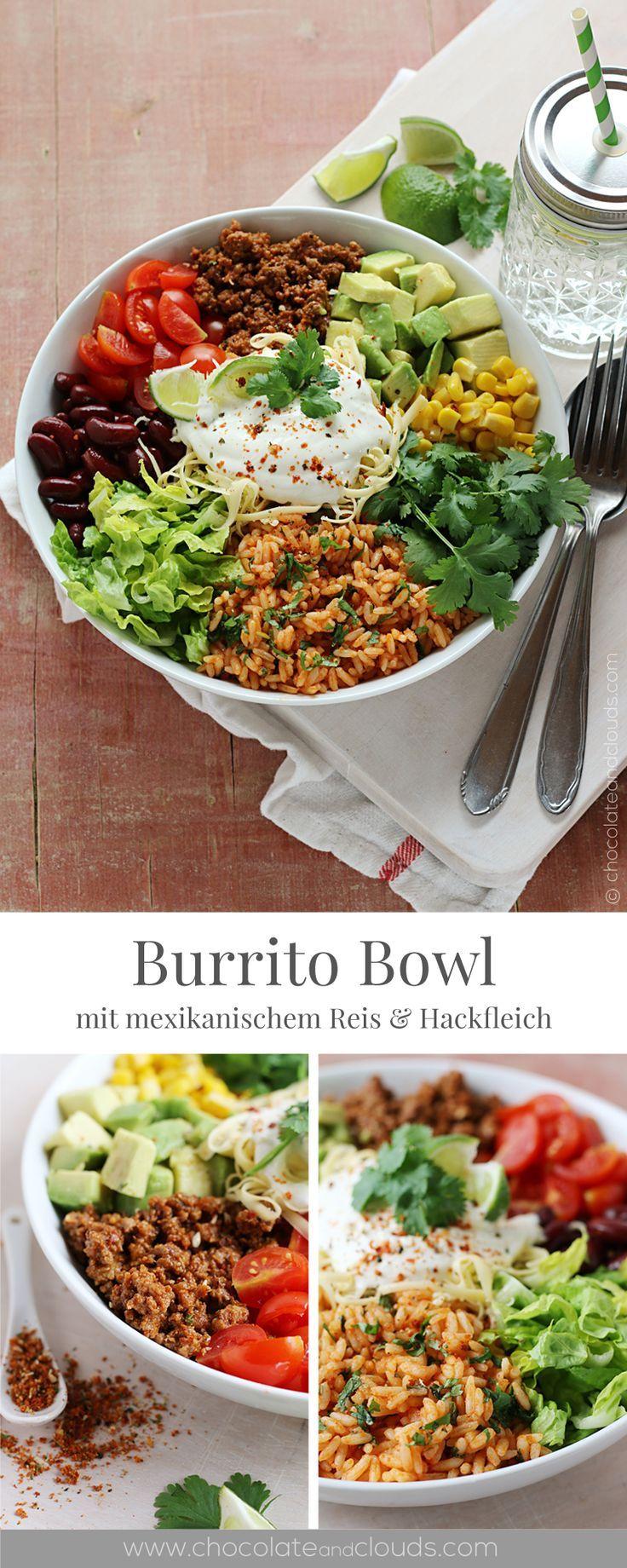 Burrito Bowl rezept mit mexikanischem Reis. Geeignet bei einer #nahrungsmittelun…