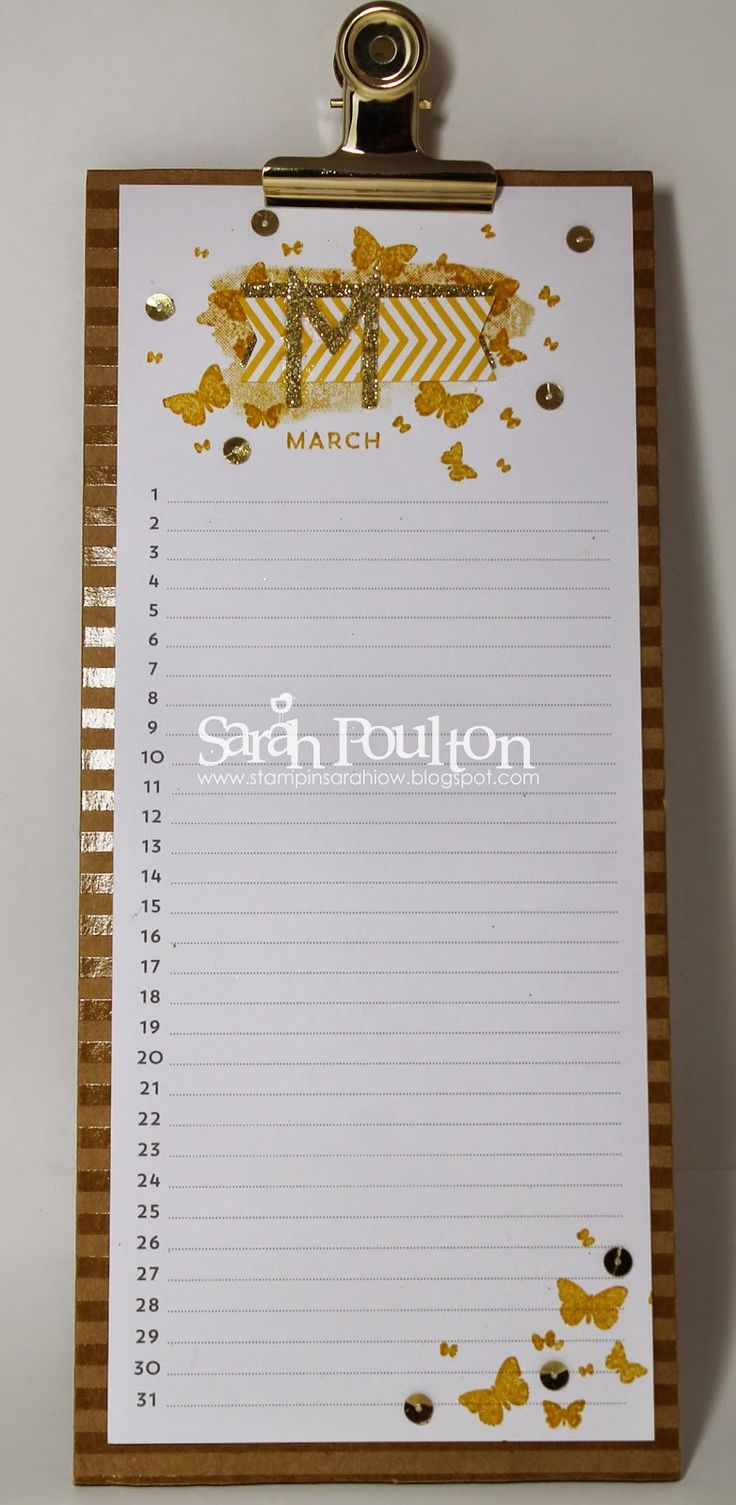 Stampin' Sarah!: Perpetual Birthday Calendar Project Kit stamped by Stampin' Up! UK Demonstrator Sarah Poulton