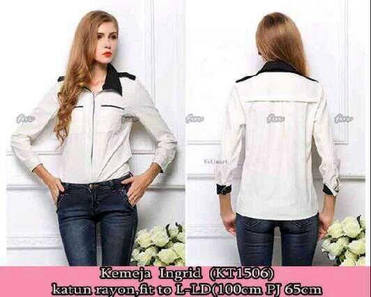 59K - ingrid blouse -katun rayon halus -fit to L