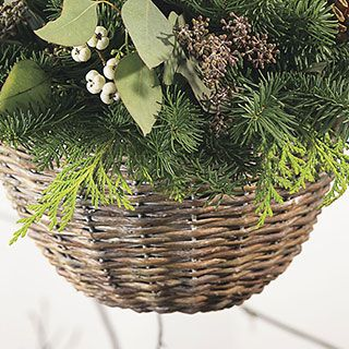 Eucalyptus & Berry Willow Hanging Basket