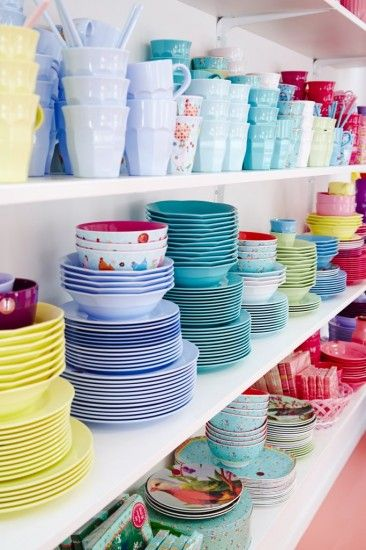 RICE Melamine .. Lovely pale Summery colours, to bold shades