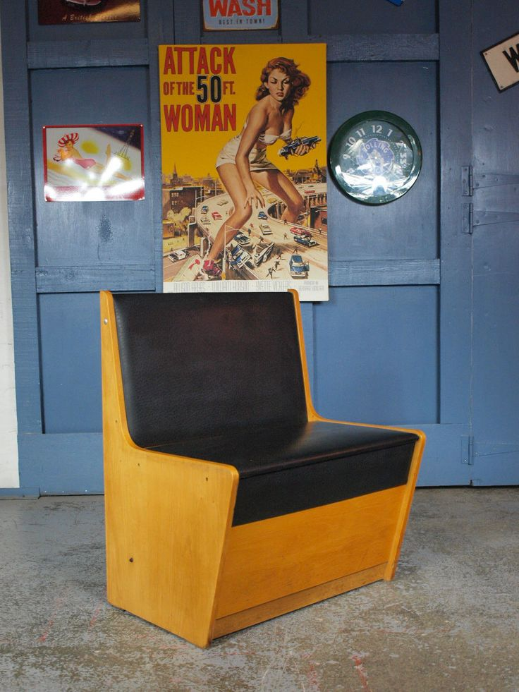 Retro Vintage Mid Century 1950s/60s Bench Seat Diner Booth Chair VW Campervan in Home, Furniture & DIY, Furniture, Benches | eBay