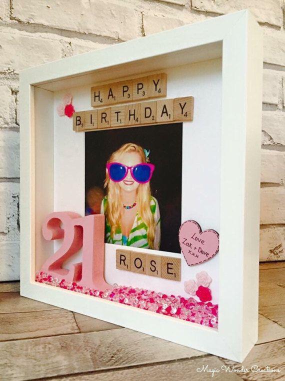 Alles Gute zum Geburtstag Frame, personalisierte Geburtstagsgeschenk, personalisierte Geburtstag Bilderrahmen, Geschenk für sie, Geschenke für ihn, alles Gute zum Geburtstag Box Frame   – Gutschein Basteln