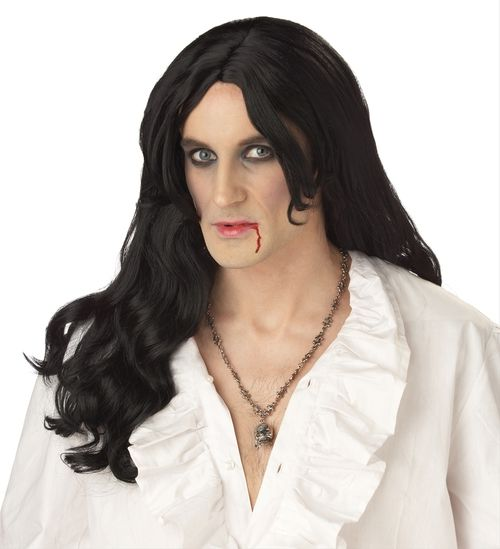 Old World Vampire Wig - This wig goes waaaay back... to the days of yore where vampires themselves first came into existence. Perfect for that old world vampire look.  #yyc #wig #costume #vampire