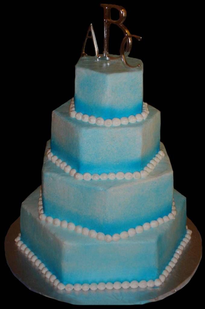light blue wedding cakes | ... Blue Wedding Cake , Light ...