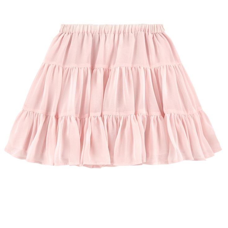 Super-fine voile fabric Fine cotton lining Flared skirt Full skirt effect Light and flowing cut Elastic waistband Flounces on the hem - $ 94