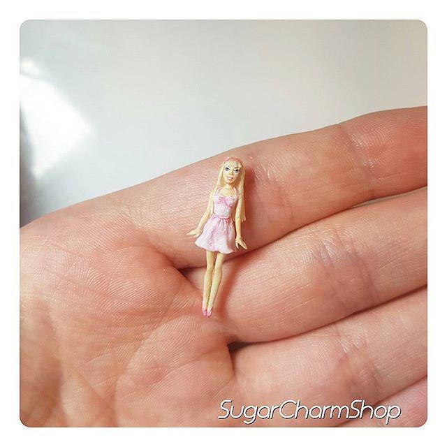 Barbie for miniature dolls  #miniature #doll #dollhouseminiatures #toy…