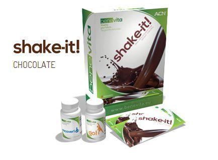 SHAKE IT! chocolade shake 1 pakje van Shake-It! bevat 1 van de 3 gram nodig van glucomannaan, de Japanse geteeld en geoogst Amorphophallus konjac wortel die actief bijdraagt aan een natuurlijke progressief gewichtsverlies met behoud van een gezonde levensstijl en gevarieerde voeding. Via mijn webshop kun je Benevita pakketten bestellen en meer informatie vinden.