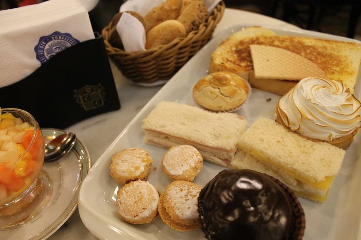 Tea, pastries and sandwiches at the Colombo, Rio de Janeiro.