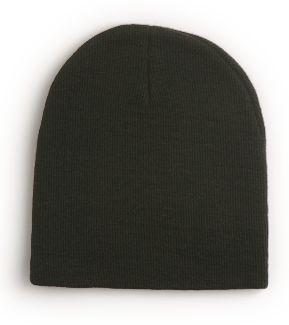 "Yupoong Heavyweight Knit 8"" Long | Knit Beanies : Custom, Blank and Wholesale Beanies $24.72 ($2.06/each) BLACK"