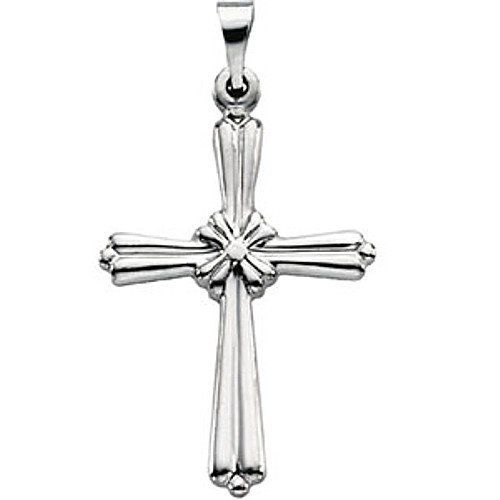 Platinum Cross Pendant - 23.00x17.00mm Gems-is-Me. $418.20. This item will be gift wrapped in a beautiful gift bag. In addition, a 'gift message' can be added.. FREE PRIORITY SHIPPING