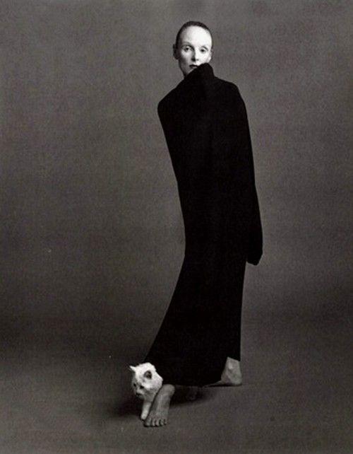 Grace Coddington wearing Comme des Garçons by Steven Meisel for Vogue Italia (Oct 1992)