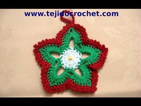 ▶ Como tejer estrellas de navidad en tejido crochet, tutorial paso a paso. - YouTube