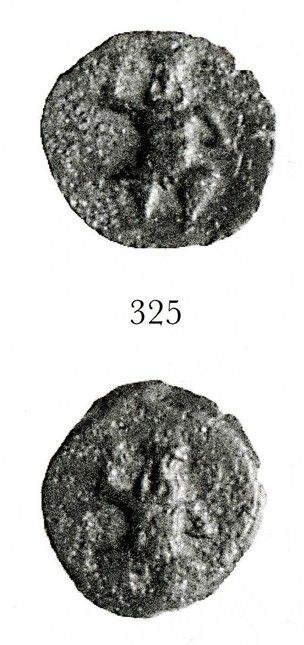 Ibero-Punic, 2ndC BC. Copper alloy coin.(obverse) Bes, naked, facing. (reverse) Bes, naked, facing.