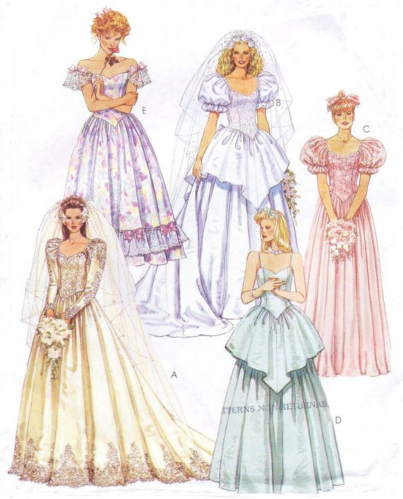 Renaissance Wedding Dress Costume History Mccall S By Heychica: 886 Best Images About Wedding Gown Patterns On Pinterest