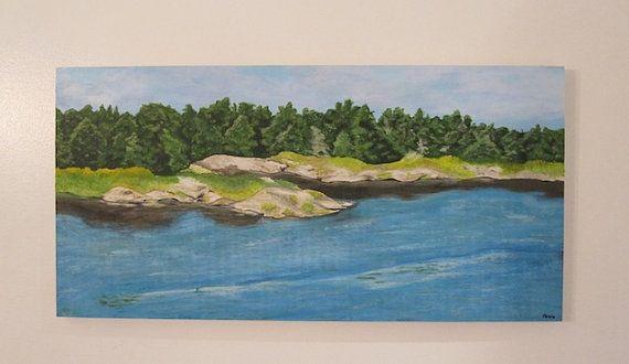 Lake of the Woods - Original Acrylic Painting - Artist Anaïs www.AnaisArtShoppe.etsy.com