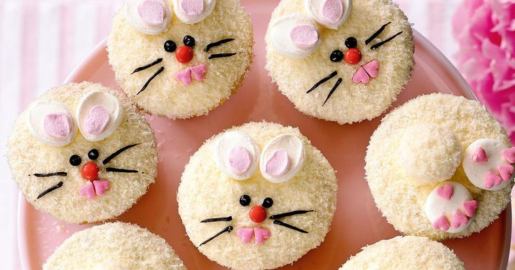 Get creative in the kitchen and turn delicious vanilla and white chocolate iced cupcakes into cute Easter bunnies.
