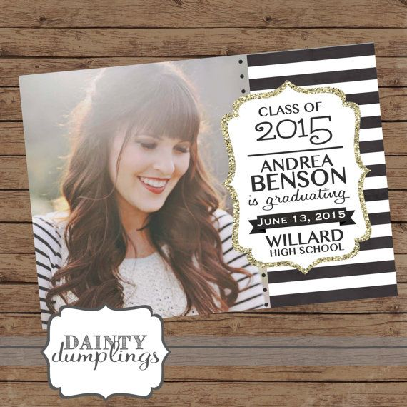 Graduation season is right around the corner! Use this unique announcement to to let your friends and family know about your big day!