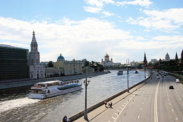 River embankment in Moscow (Russia)