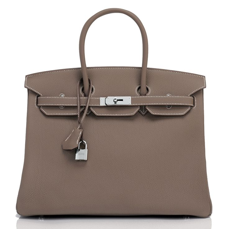 Hermes Birkin Bag 35cm Etoupe Togo Palladium Hardware Image 1
