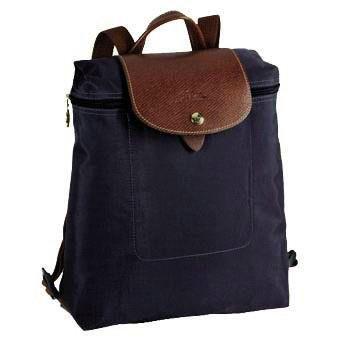Longchamp Le Pliage Zippered Backpack Navy