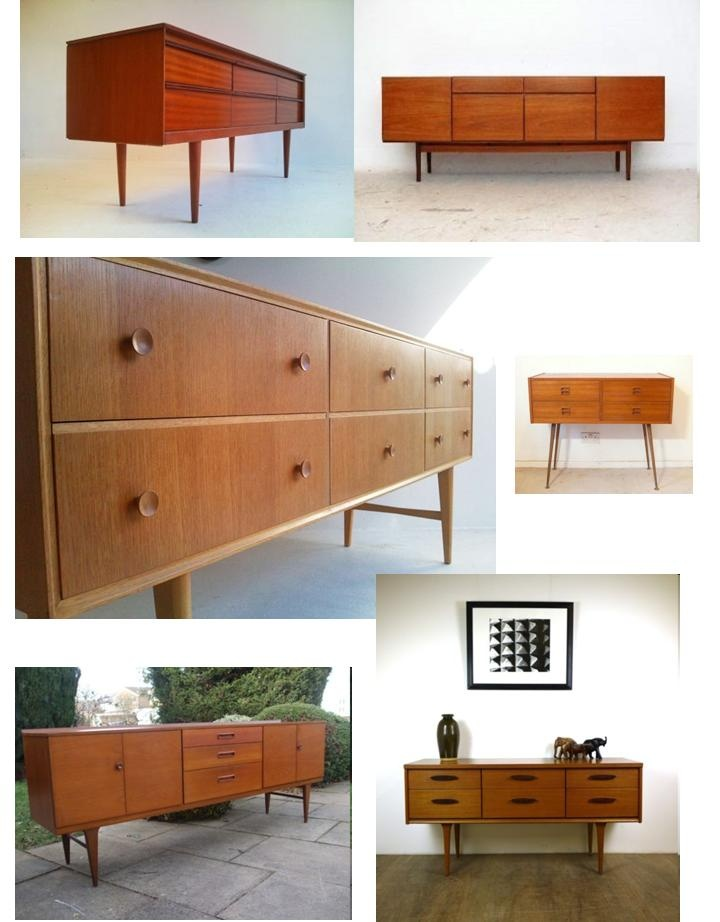 Loving retro furniture :) painted with a modern twist and perfect!
