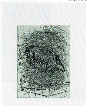 Punta seca - Georg Baselitz - Das Schwein