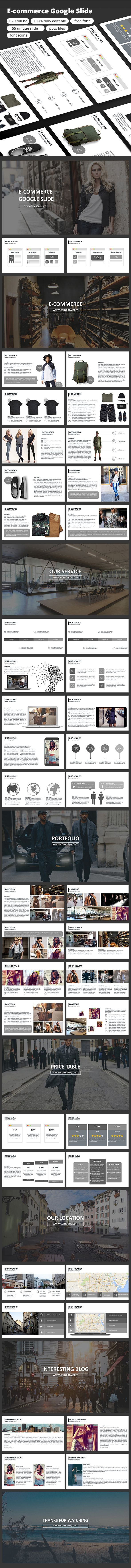 E-commerce - google slide - Google Slides Presentation Templates