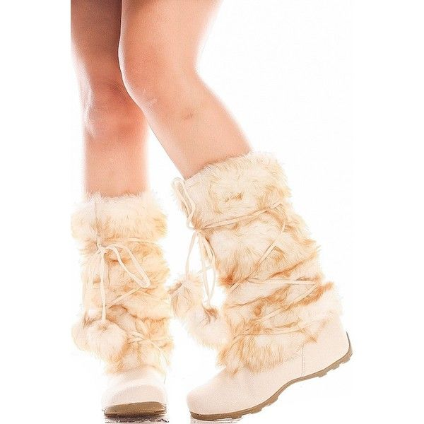BEIGE FUR SUEDE MATERIAL LOOK LACE ACCENT CASUAL KNEE HIGH BOOTS ($26) ❤ liked on Polyvore featuring shoes, boots, over-the-knee high-heel boots, cowgirl boots, knee high platform boots, wide calf over the knee boots and over the knee suede flat boots