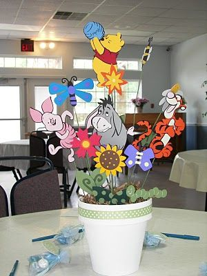 Winnie the Pooh Centerpiece: Winnie the Pooh baby shower is still a favorite and thanks to Jennifer in Gainesville, Florida she has all the coolest ideas for A Winnie the Pooh Baby