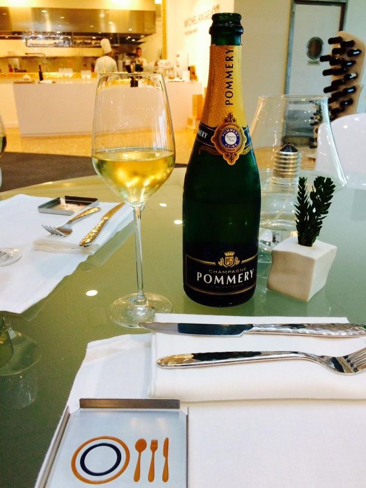 Lunch of The day! @MiAirports Michelangelo Restaurant Linate Airport Milan Top Class! #Champagne @Pommeryofficial