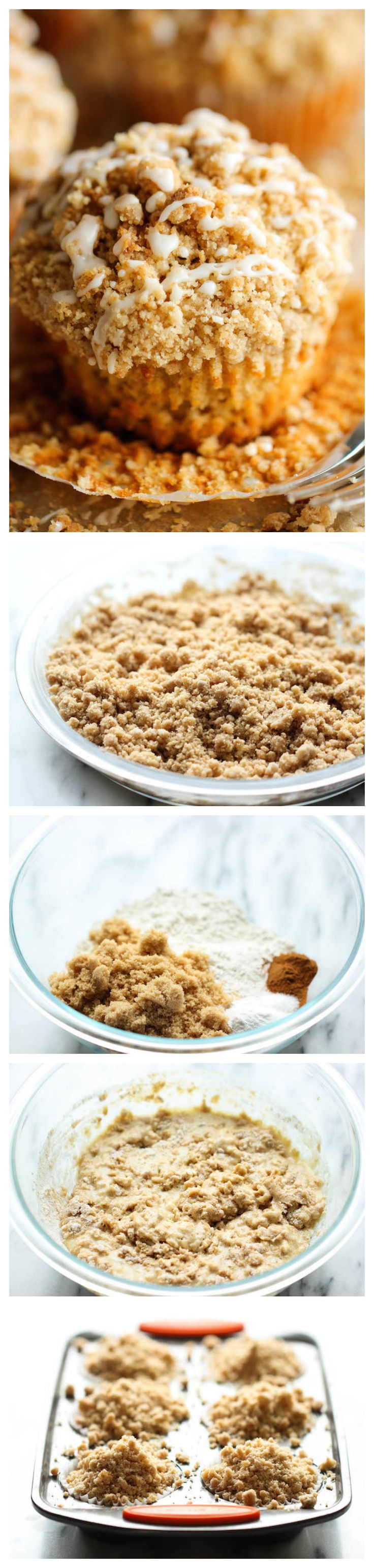 Coffee Cake Muffins - The classic coffee cake is transformed into a convenient muffin, loaded with a mile-high crumb topping!
