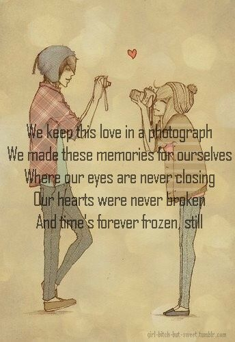 ♥ ed sheeran - photograph 'and you can keep me inside the necklace you got when you were sixteen'