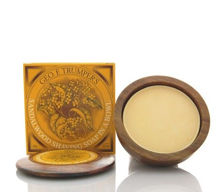Geo. F. Trumper Sandalwood Hard Shaving Soap in Wooden Bowl - $29.49 :