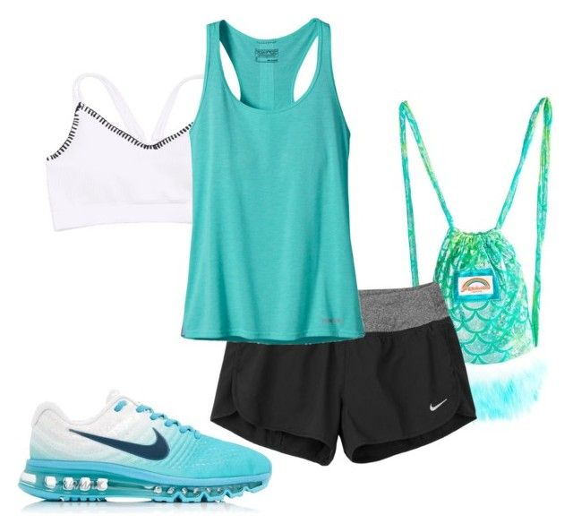 """Percy Jackson Cabin 3: Poseidon Inspired Outfit"" by camemckeith on Polyvore featuring J. Valentine, NIKE and Patagonia"