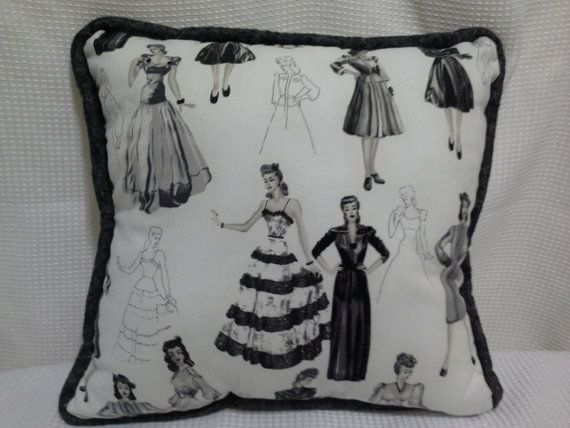 Hey, I found this really awesome Etsy listing at https://www.etsy.com/listing/179943174/vintage-glamour-girls-throw-pillow