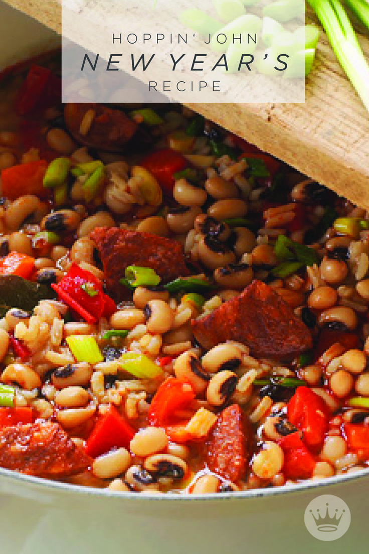 If you're from the South, chances are you already have your own favorite variation of this traditional New Year's dish. But for the rest of us, here's a tasty Hoppin' John recipe from Hallmark to try this New Year's Day. We all need good luck, right?