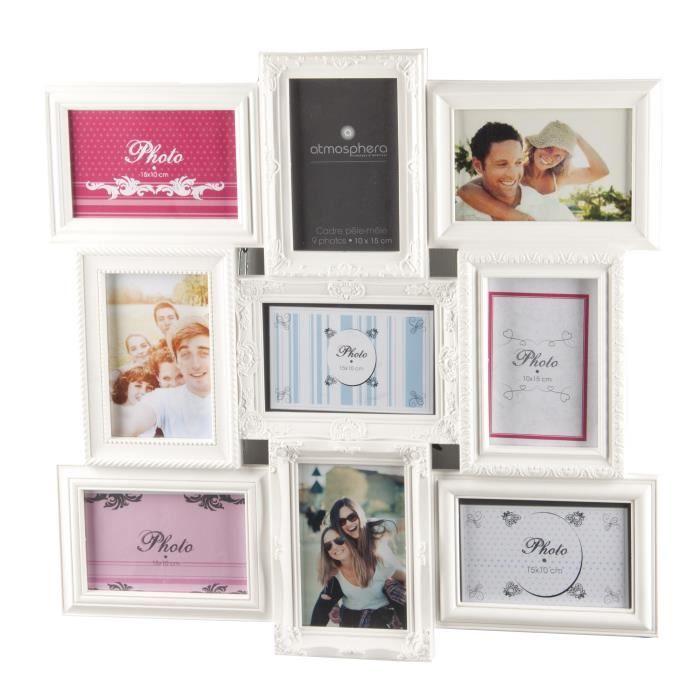 Cadre Photo Pele Mele Mural Coloris Blanc Capacite 9 Photos Cadre Photo Cadre Photo Pele Mele Et Cadre Photo Multivues