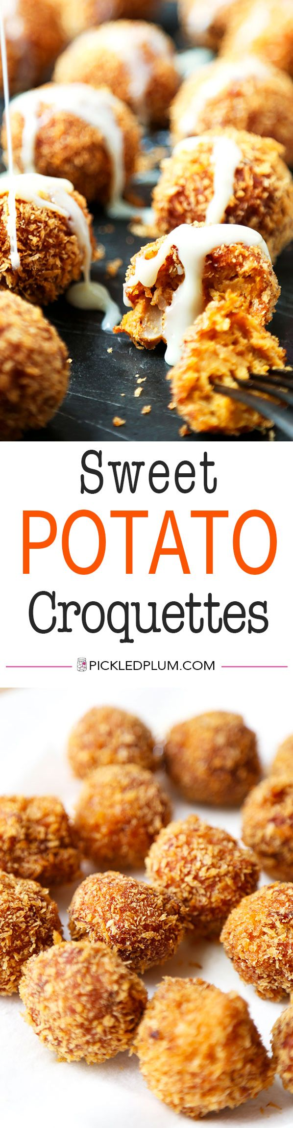 Sweet Potato Croquettes - Crispy on the outside with sweet, fluffy and ...
