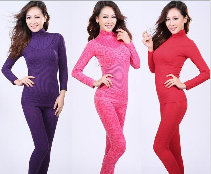 Wholesale 2013 new leopard grain design of turtle neck seamless the body underwear woman thin of thermal underwear suits