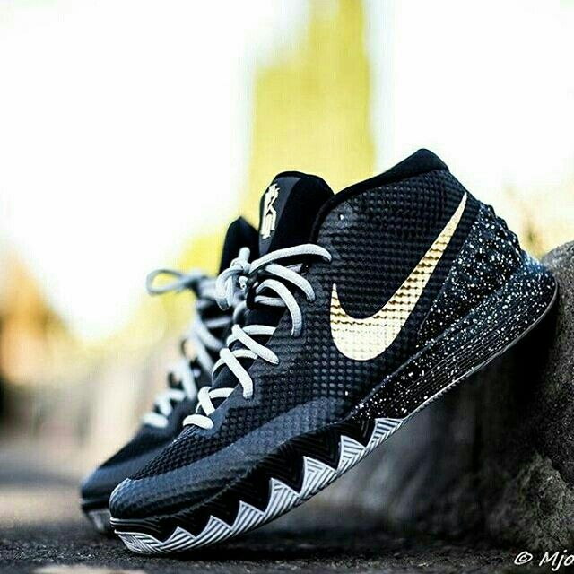 continues to kill it with his NIKEiD creations with his latest being this  black & gold Kyrie What d…""
