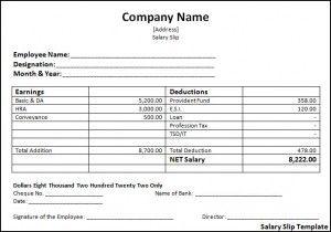 Salary Slip Template